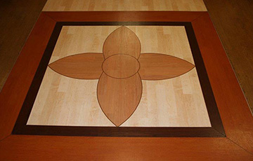 laminated flooring flower design
