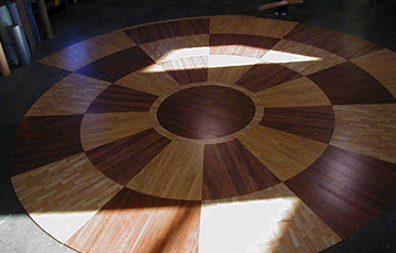 laminated flooring inlays by hydro lazer