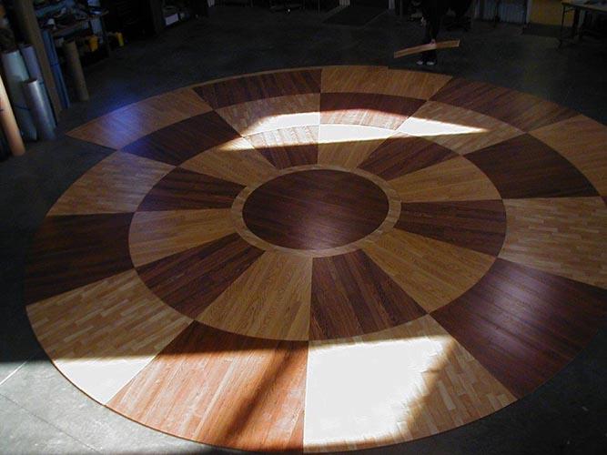 Laminate Floor Inlays : Innovative laminate flooring inlays by hydro lazer