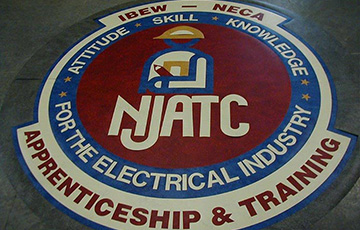 njatc logo on linoleum tile
