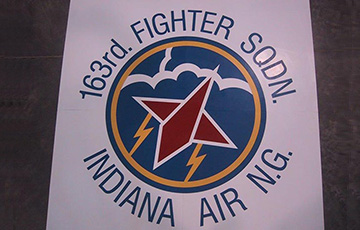 163rd fighter sqdn logo on rubber tile