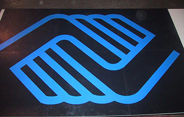 rubber floor tile inlays
