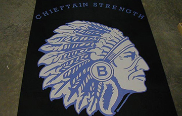 chieftain logo on rubber tile