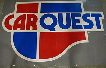 carquest logo on vct tile
