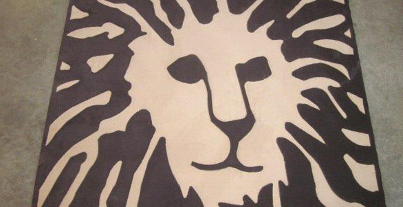 Intricate lion logo custom carpets