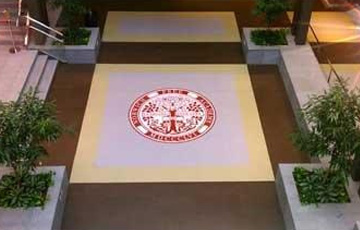 norwich free academy logo on tiles