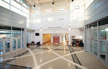 Flooring Inlay at ERMA BYRD Higher Education Center
